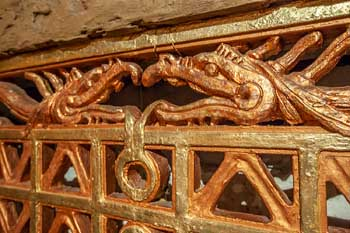 Organ Grille Serpents Closeup