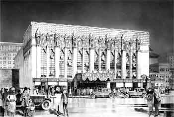 Architect's rendering of the theatre