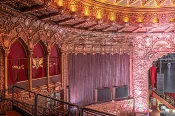 The Belasco, Los Angeles: House Left wall, showing plasterwork designed to imitate draperies