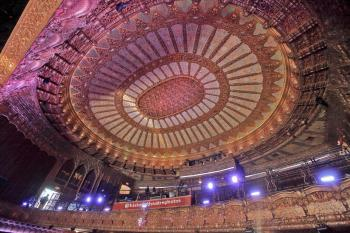 The Belasco, Los Angeles: Ceiling Dome and Balcony from Orchestra level