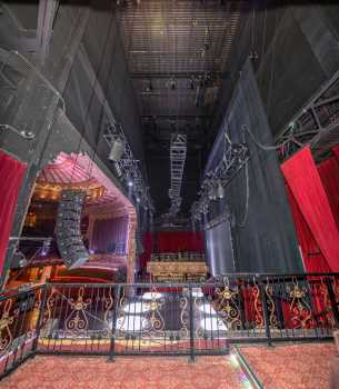 The Belasco, Los Angeles: Stage from VIP Balcony Stage Left