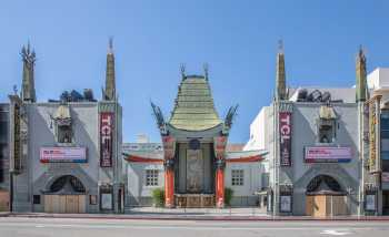 TCL Chinese Theatre, Hollywood: Forecourt from Hollywood Boulevard