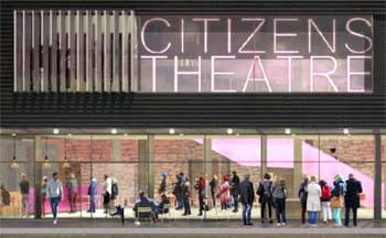Rendering of the theatre's new entrance by Bennetts Associates