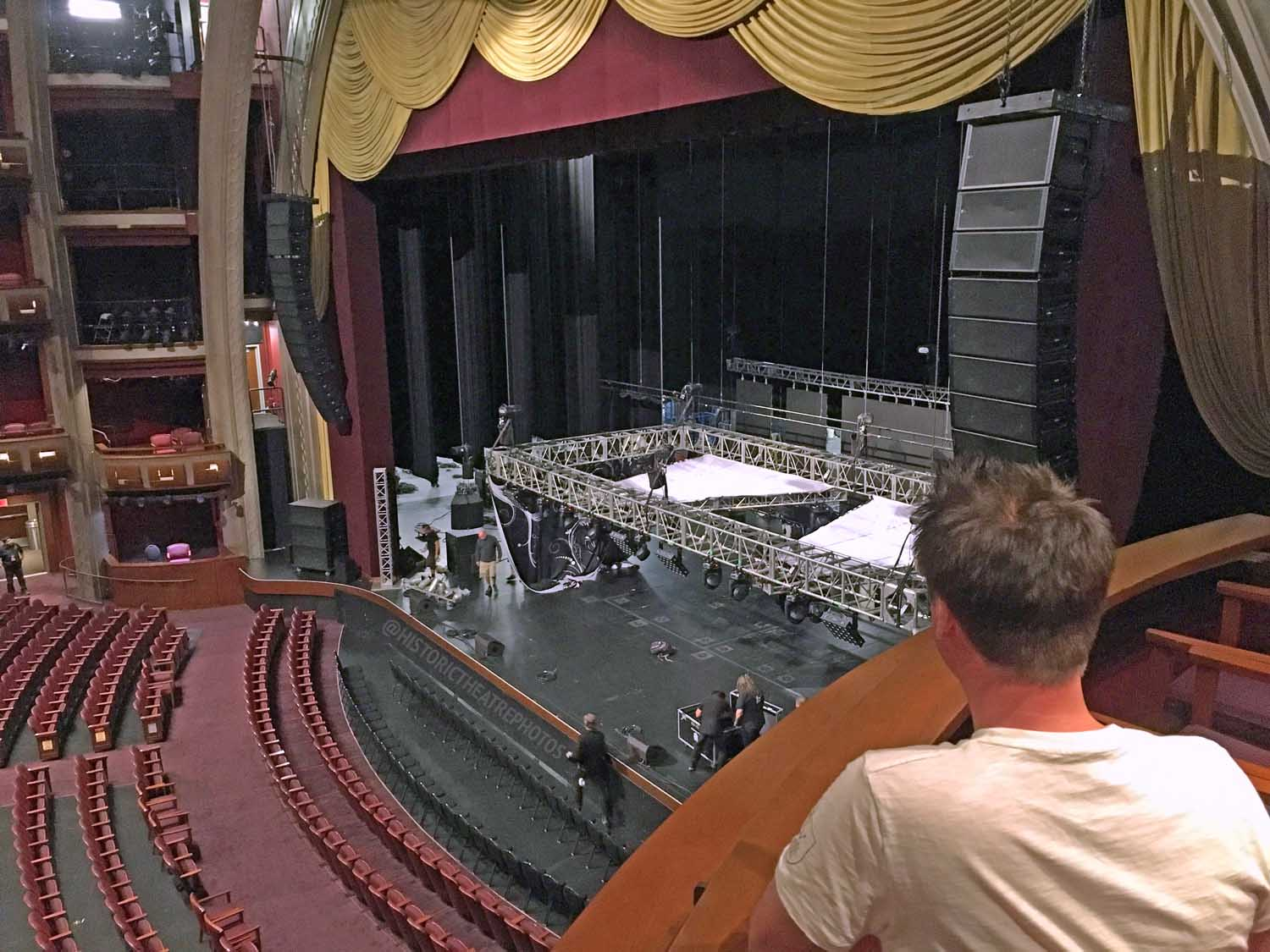 Dolby Theatre, Hollywood: Stage from Auditorium Box