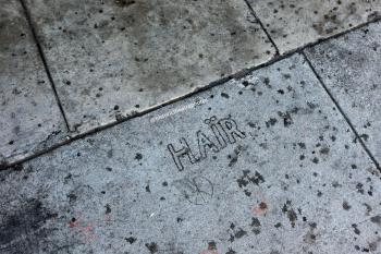Hair sidewalk inscriptions (1)