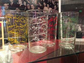 Earl Carroll Theatre Celebrity Autograph Glasses Set 1