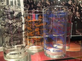 Earl Carroll Theatre Celebrity Autograph Glasses Set 2