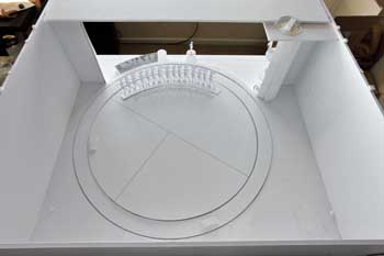 Theatre model from above rear