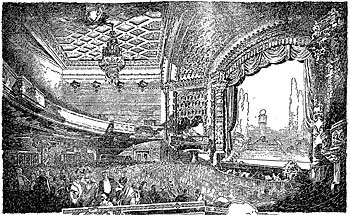 Drawing of the El Capitan Theatre as printed by the Los Angeles Times upon its opening