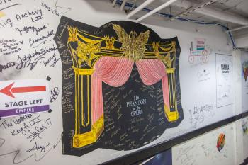 Phantom of the Opera dressing room wall