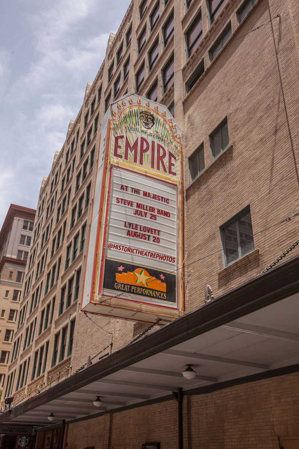Charline Mccombs Empire Theatre San Antonio Historic