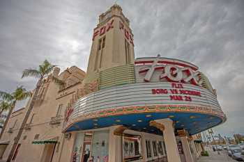 Fox Theater Bakersfield: Marquee And Clock Tower