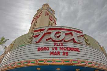 Fox Theater Bakersfield: Marquee Closeup