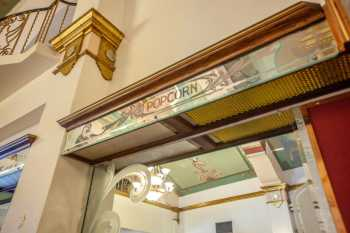 Fox Theater Bakersfield: Concessions Stand Backing Closeup