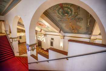 Fox Theater Bakersfield: Lobby Stairs From Mezzanine