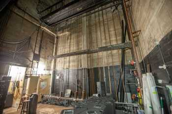 Visalia Fox Theatre: Counterweight Wall From Upstage