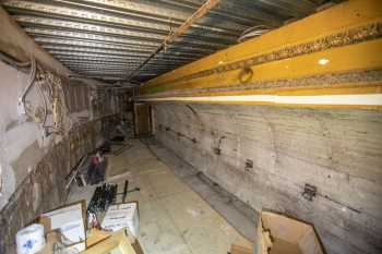 Globe Theatre, Los Angeles: Inside Orchestra Pit, now floored over