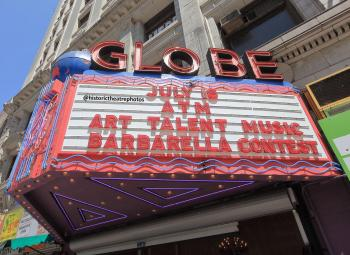 Globe Theatre, Los Angeles: Marquee - daytime