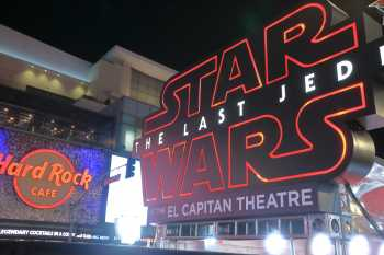 Hollywood Boulevard Entertainment District: El Capitan Theatre: Star Wars Red Carpet entrance