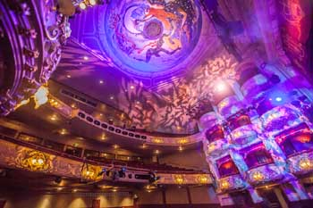 King's Theatre, Edinburgh: Pantomime 2017-18 Preset and Ceiling from Stalls