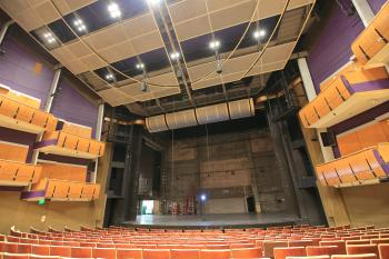 Los Angeles Music Center: Stage from Orchestra cross-aisle