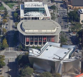 Los Angeles Music Center: The Music Center as seen from US Bank Tower
