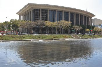Los Angeles Music Center: Dorothy Chandler Pavilion from the DWP building across the street
