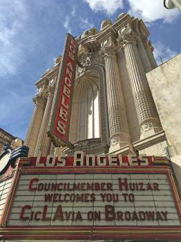 Los Angeles Theatre: Marquee by day