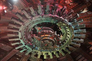 The Mayan, Los Angeles: Auditorium centerpiece inspired by Mayan Calendar