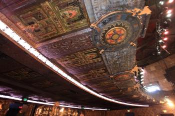 The Mayan, Los Angeles: Balcony soffit showing color detail