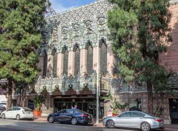 The Mayan, Los Angeles: Mayan Theatre façade From across street