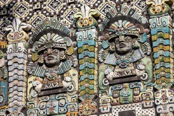 The Mayan, Los Angeles: Façade closeup