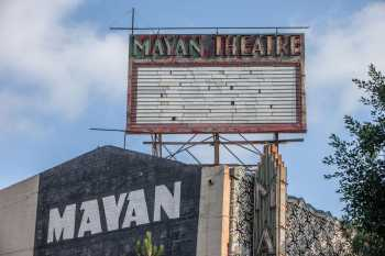 The Mayan, Los Angeles: Rooftop and high-level sign