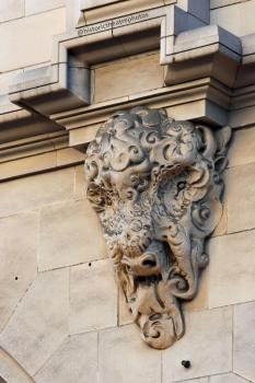Bison head exterior decoration