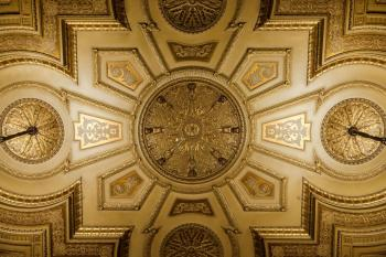Auditorium ceiling closeup