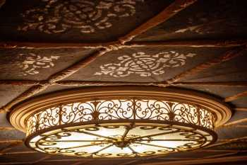 Orpheum Theatre, Phoenix: Balcony Soffit Light Fixture and stenciled ceiling
