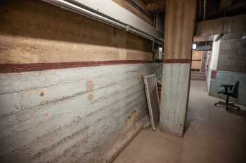 Orpheum Theatre, Phoenix: Swamp Cooler Water Line in Basement Corridor