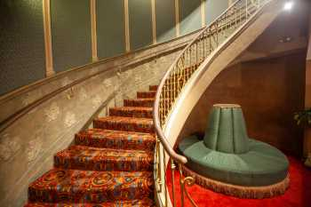 Orpheum Theatre, Phoenix: Peacock Staircase rising from the Basement Lounge