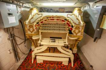 Orpheum Theatre, Phoenix: Organ Console in storage space under Stage