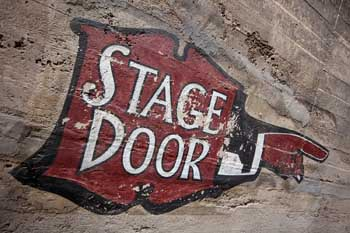 Stage Door Sign Closeup