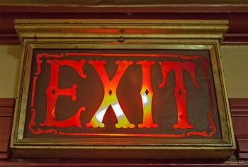 Lobby Exit Sign