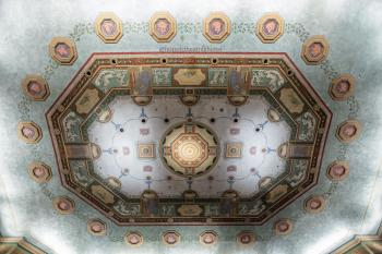 Giovanni Smeraldi's intricately painted ceiling
