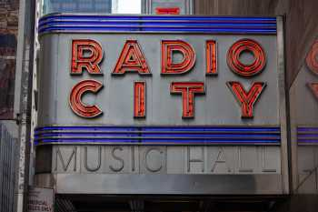 Radio City Music Hall, New York: Marquee Closeup on 50th St