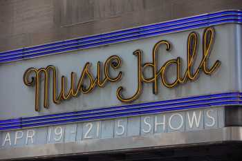 Radio City Music Hall, New York: Marquee Closeup