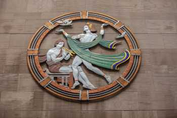 Radio City Music Hall, New York: Art Deco roundel depicting song