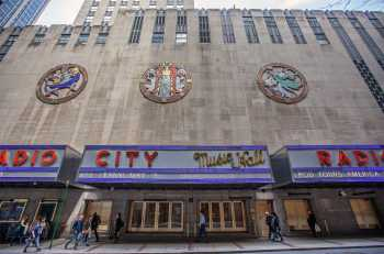 Radio City Music Hall, New York: 49th St Art Deco Roundels