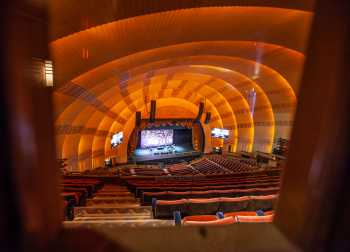 Radio City Music Hall, New York: Auditorium from Third Mezzanine Lobby