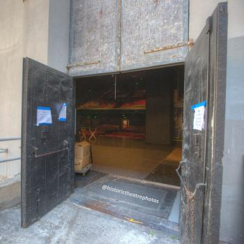 Ricardo Montalbán Theatre, Hollywood: Load-In Door at rear of Stage