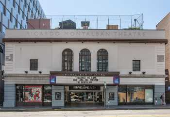 The theatre's façade in 2020