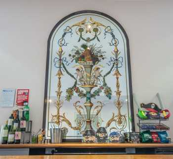 Royal Lyceum Theatre Edinburgh: Decorative Mirror Behind Bar